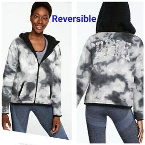 Pink Bling Reversible Sherpa sz-L